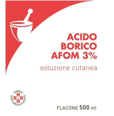 ACIDO BORICO AFOM 3% 500ML